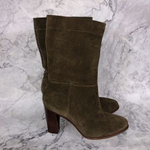 VC Vince Camuto Olive Orton Suede Mid Boots